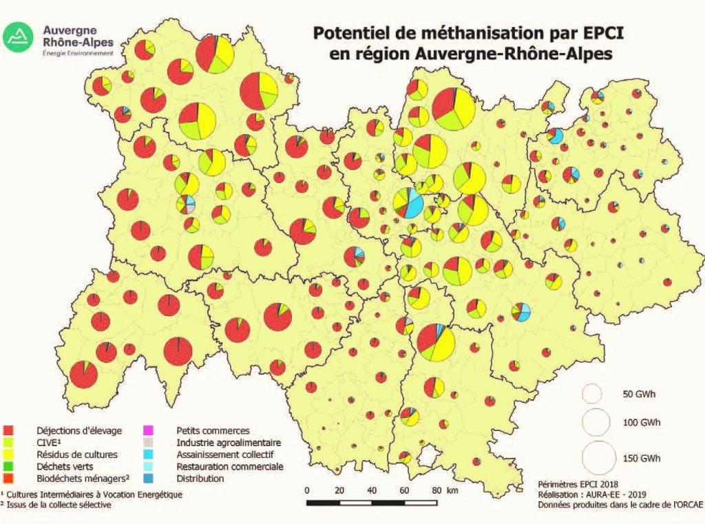 Potentiel de méthanisation par EPCI